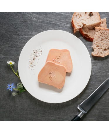 Semi-cooked traditional duck foie gras - 250g